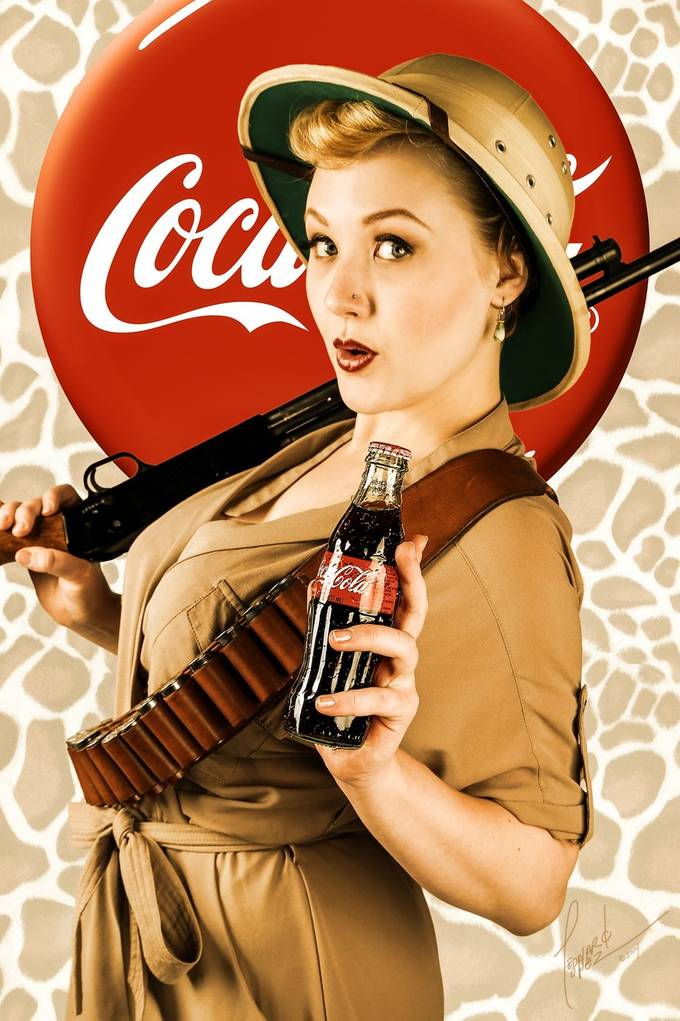 Coca-Cola Pinup, Huntress by crackedegg - Commercial Style Photo Contest