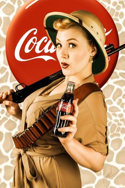 Coca-Cola Pinup, Huntress