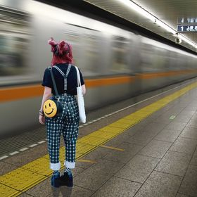Girl in Tokyo Subway Station