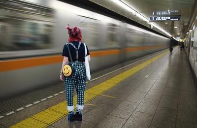 Girl in Tokyo Subway Station