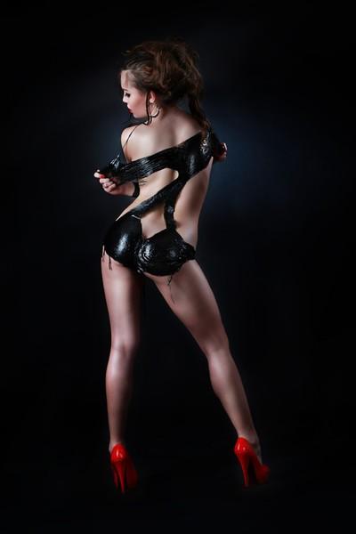 Liquid Latex Dress Backside