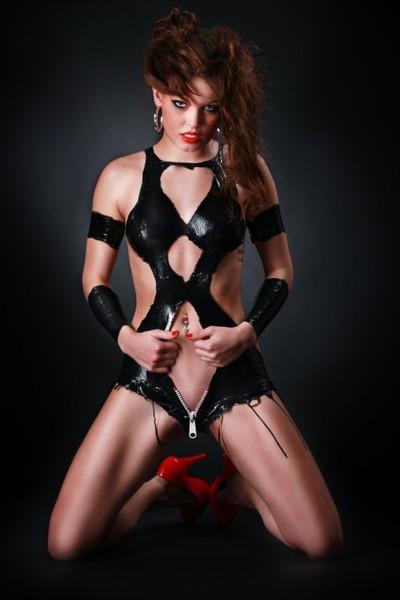 Liquid Latex Dress Zipper