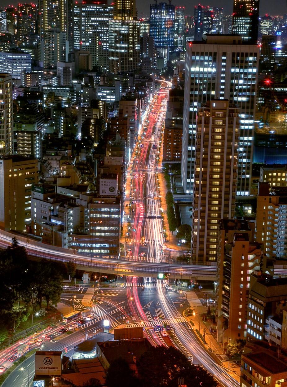 Tokyo Night Traffic by Eduardbetz - The Magic Of Japan Photo Contest