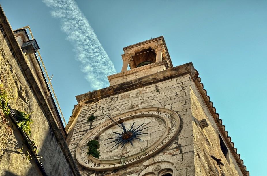Old Clock Tower in Split, Croatia.