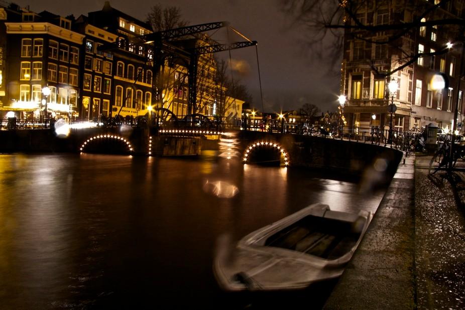 A\'dam bridge in the soft rain..