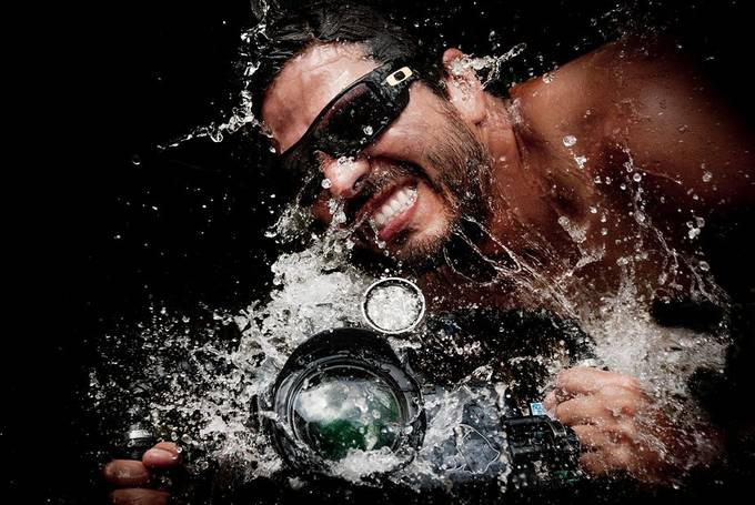 Splash on camera by LorenzoMittiga - Sunglasses Photo Contest