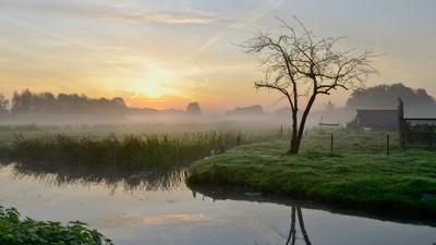 Kortenhoef in the early morning