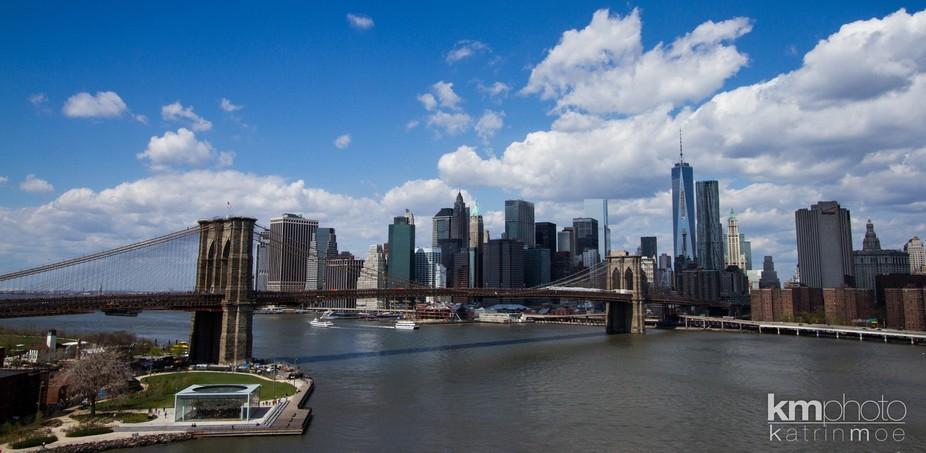 Brooklyn Bridge and Manhattan