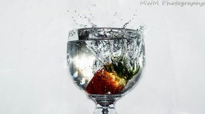 A splash of strawberry