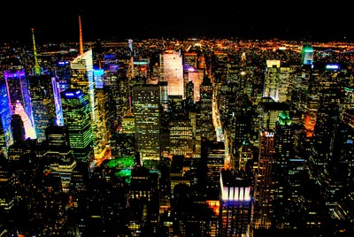 New York Buildings at Night