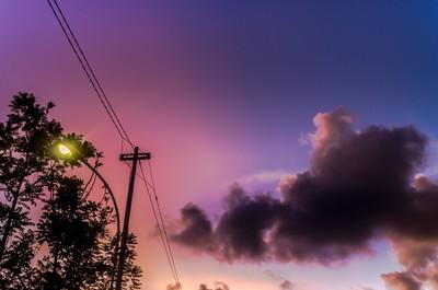 Street Light and Sunset