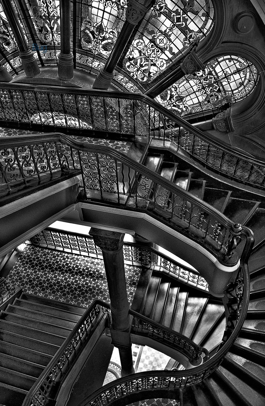 Old Style Workmanship - Queen Victoria Building, Sydney by philipjohnson - Awesomeness In Black And White Photo Contest