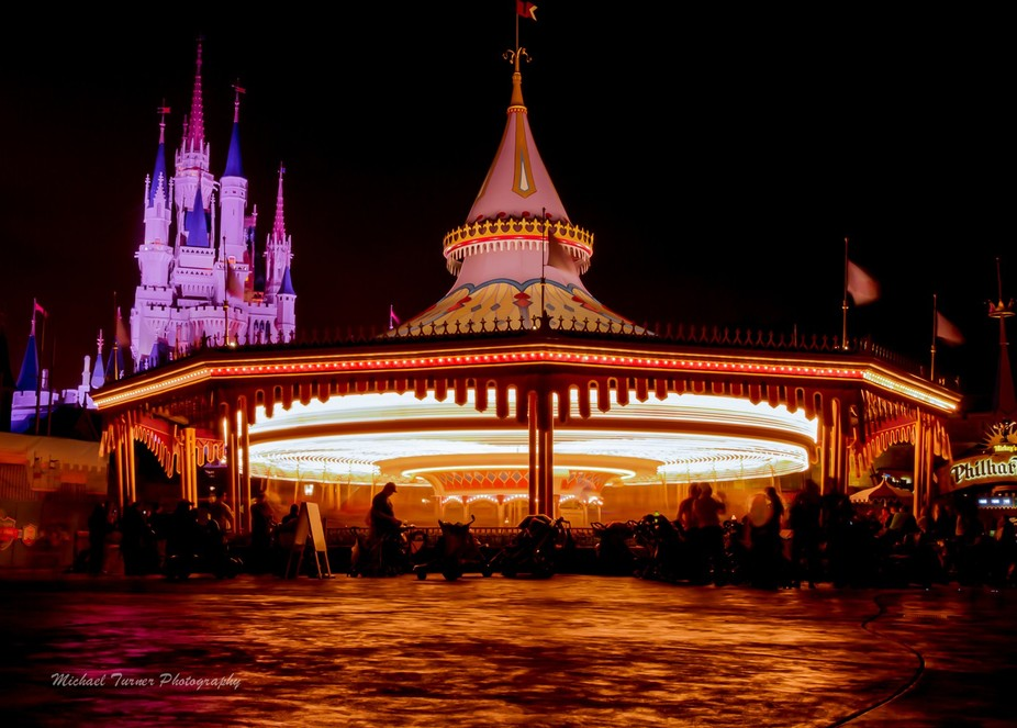 Taken at Walt Disney World During a trip last year. Improvised tripod & long exposure.