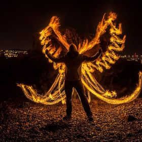 This is an edited version of my Angel of Fire shot taken September 2013.  There was NO photoshop involved in the making of this pic, it was creat...