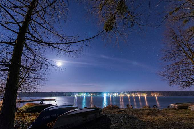 Moonlight over the lake by sciepko - Moonlight Photo Contest