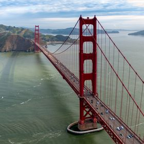 Golden gate Bridge in early morning.