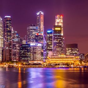 Taken just after sunset when the lights of the city began to take over