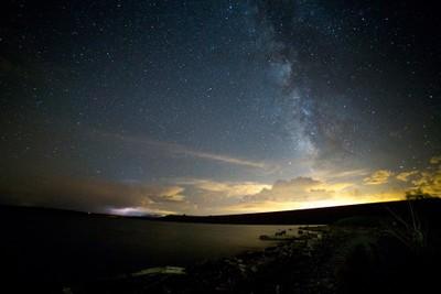 cochiti lake lightning and milkyway