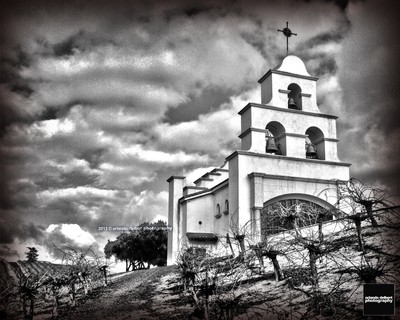 Shandon Chapel in Black and White