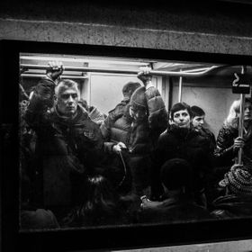 Life on the Rome Metro at Rush-Hour.