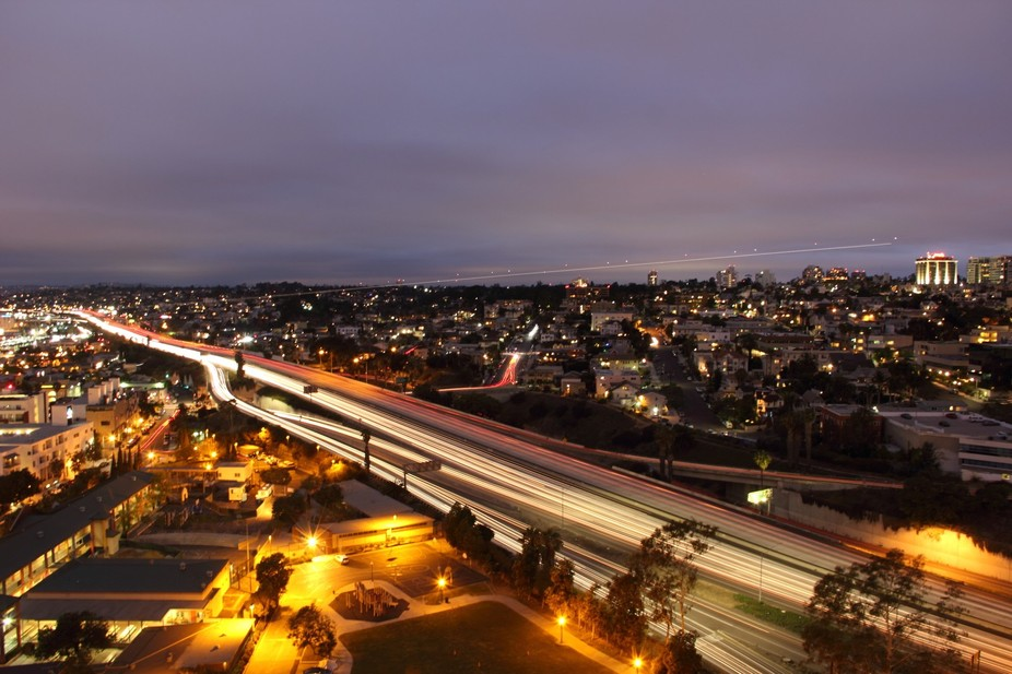 This Photo was taken of the San Diego Fwy in San Diego