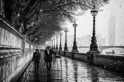 A snowy Albert Embankment