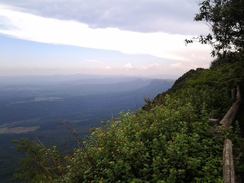 this picture was taken from the viewing point at God\'s Window, Mpumalanga, ZA