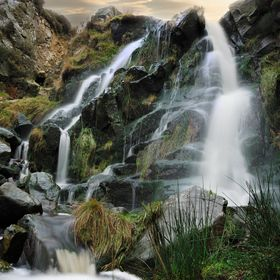 Waterfall on Ilkley Moor, Yorkshire, UK