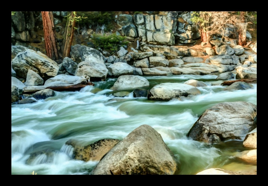 Stanislaus River near its confluence with Fence Creek off Highway 108 in the Central Sierra Nevad...