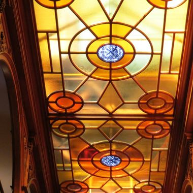 Stained glass ceiling. The Ontario Legislative Building.