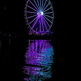 This is a photo of the Ferris Wheel at National Harbor in the USA - Maryland. This weekend was the opening. It sits at the end of a pier and is h...