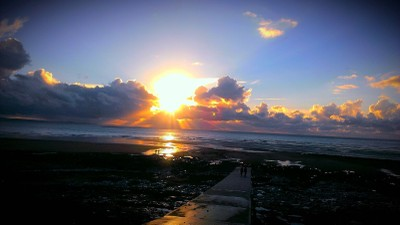 Sunset at Ogmore