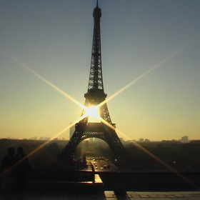 Over looking the Eiffel Tower in Paris. I took this picture early in the morning.