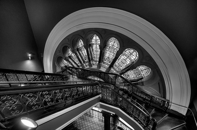 On The Rails - Queen Victoria Building , Sydney Australia by philipjohnson - Stairways Photo Contest