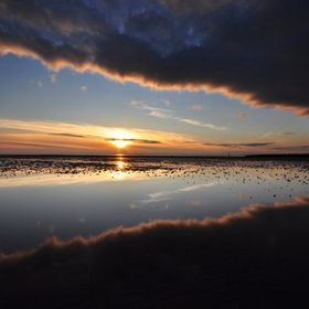 Morecambe Bay, UK.