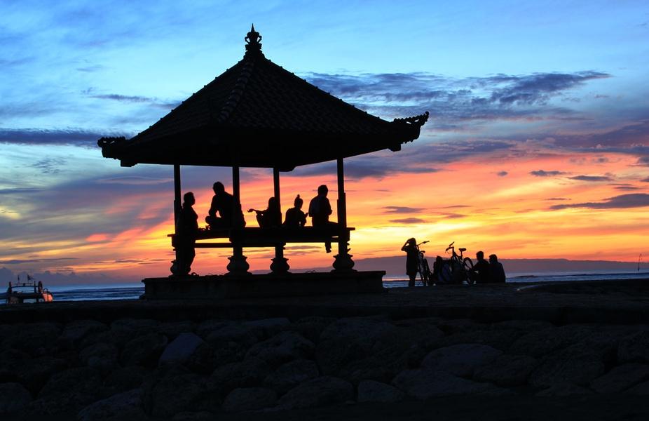 waiting for sunrise, Beach sanur,Bali-Indonesia