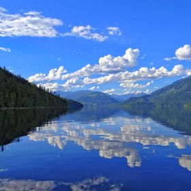 Slocan Lake in British Columbia, Canada