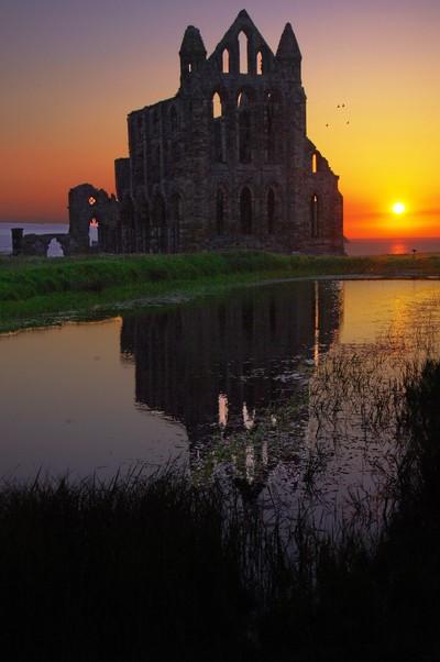 Sunset on Abbey Pond