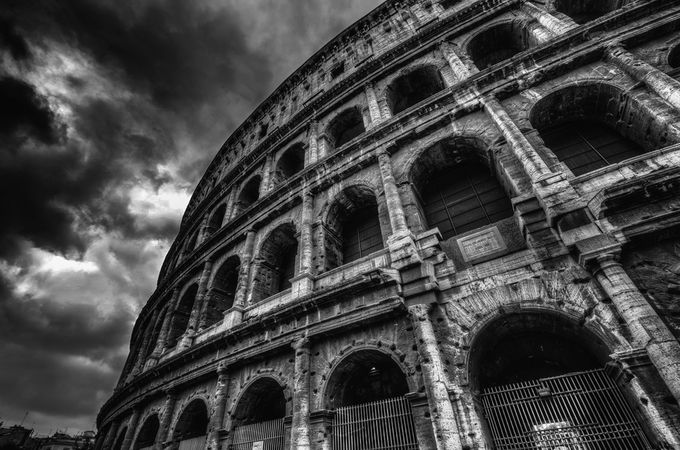 Colosseum Different Angle by BensViewfinder - Black And White Architecture Photo Contest