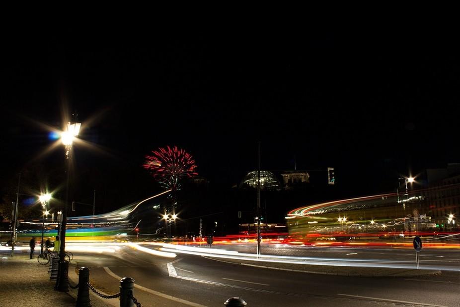 Photo made during \'Festival of Lights\' at Brandenburger Gate