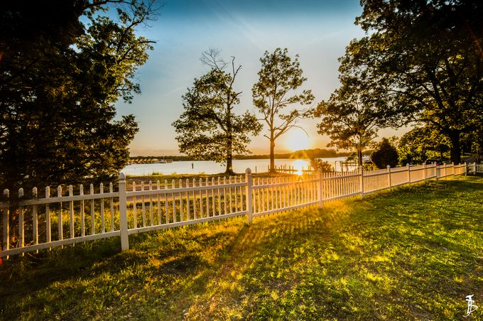 Colonial Beach Sunset by jeffbunn - Rails and Fences Photo Contest