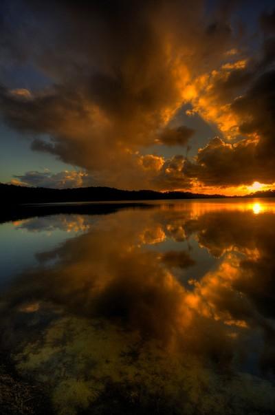 Light Reflection - Narrabeen Lakes, Sydney Australia