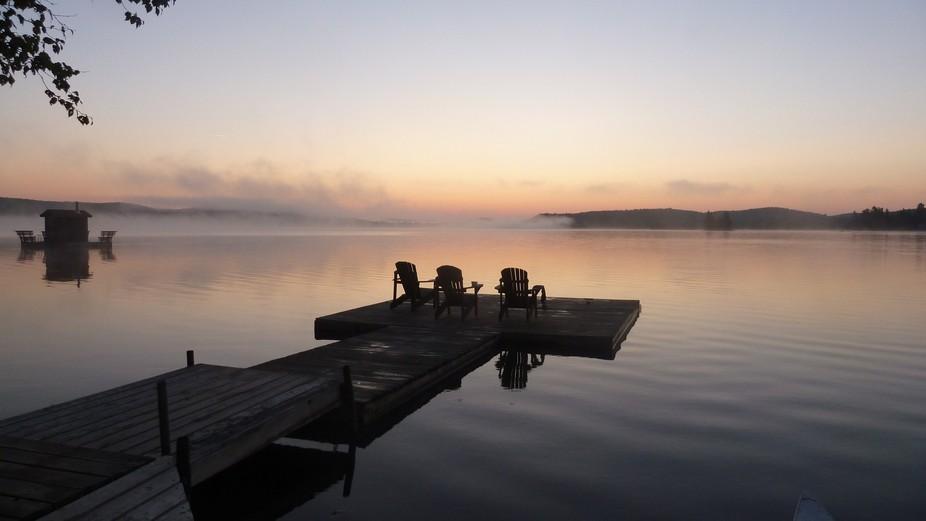 Algonquin park lake Ontario