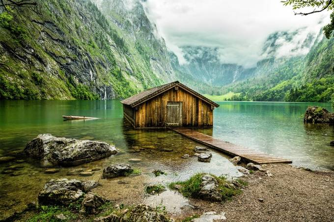 Boathouse on Obersee by Archangel72 - Isolated Cabins Photo Contest
