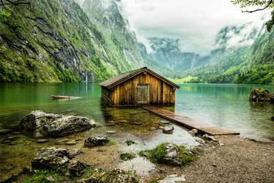 Boathouse on Obersee