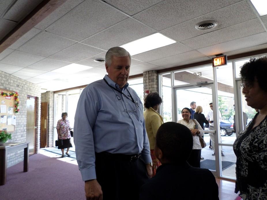 pastor bayles at church