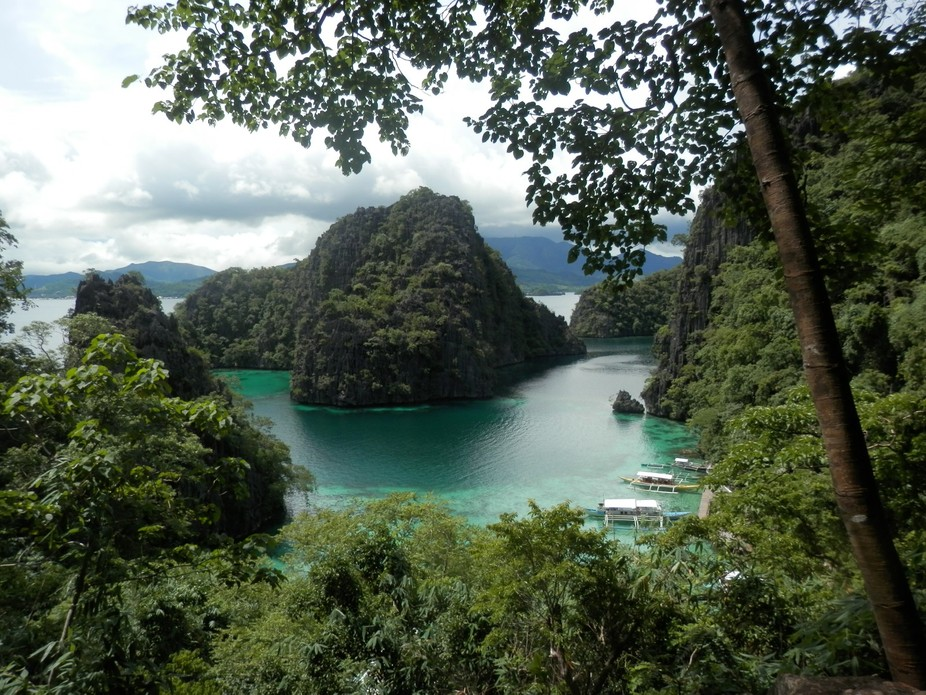 Were exploring the off beaten path in Coron Palawan, We had to climbed 300 rocks stairs to get to...