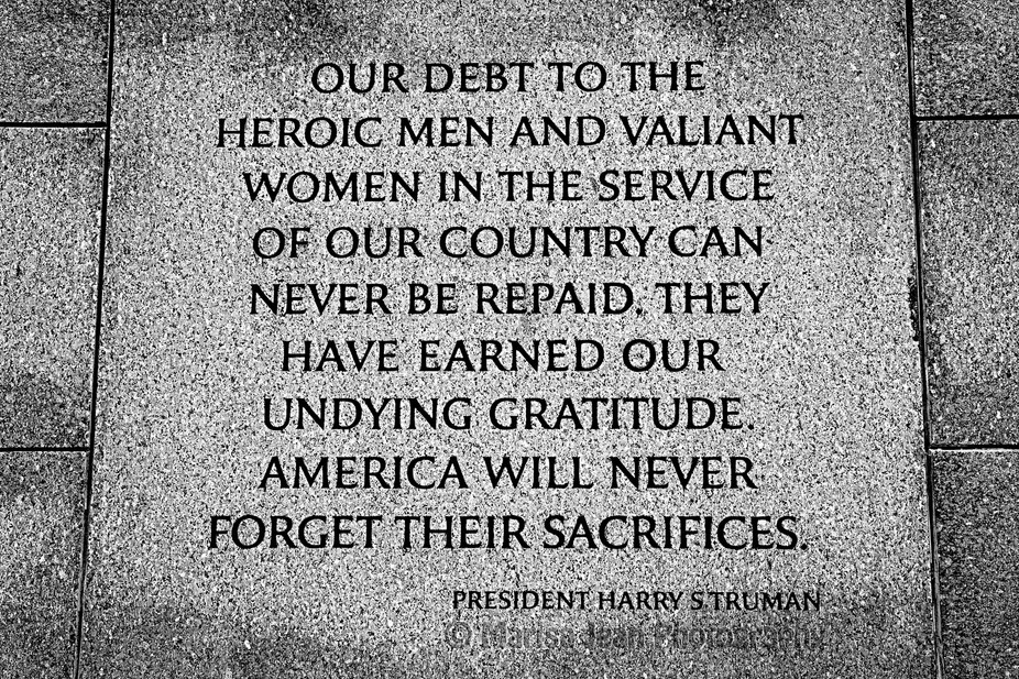 WWII Memorial Quote