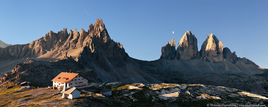 Panorama of Tre Cime and Monte Paterno
