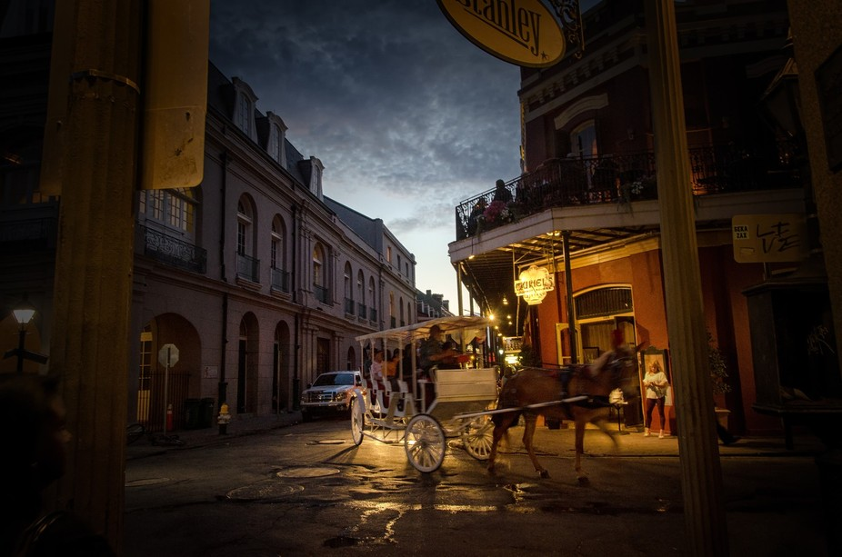 Traditional carriage ride in the French Quarter of New Orleans